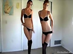 sexy twins stripping