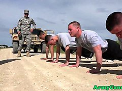 Military hunks outdoor asslicking and jizzing